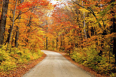 Maine Photograph - Autumn In Maine by Michael Barry