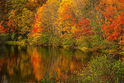 Of Autumn Photograph - Autumn In Monroe by Karol Livote