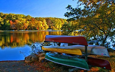 Photograph - Autumn In Mountain Lakes by Allen Beatty