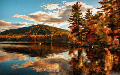 Painting - Autumn In New England - 01 by Andrea Mazzocchetti