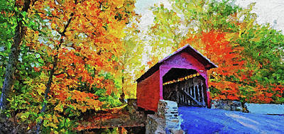 Painting - Autumn In New England - 05 by Andrea Mazzocchetti