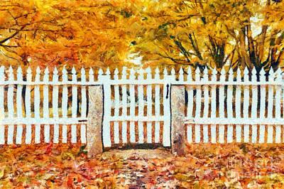 Wide Digital Art - Autumn In New England by Edward Fielding