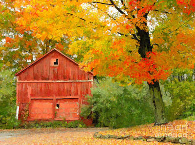 Autumn In New England Art Print by Michael Petrizzo