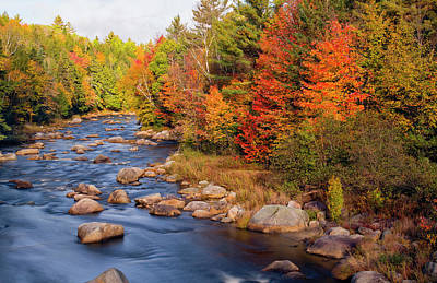 Photograph - Autumn In New Hampshire by Betty Denise