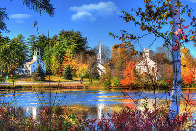 Photograph - Autumn In New Hampshire - Marlowe Nh by Joann Vitali
