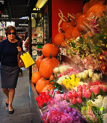 Photograph - Autumn In New York - Pumpkins In October by Miriam Danar