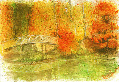 Painting - Autumn Landscape Painting  by Remy Francis