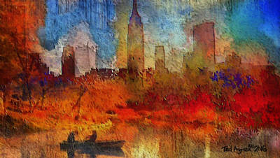 Painting - Autumn In New York by Ted Azriel