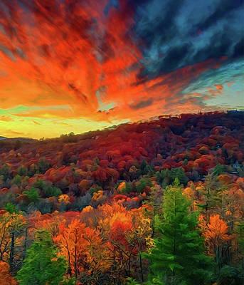 Painting - Autumn In North Carolina by Andrea Mazzocchetti