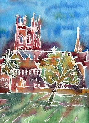 Painting - Autumn in Oxford by Neringa Barmute