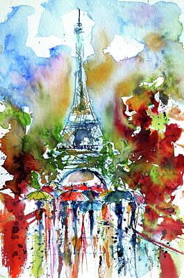 Paris Painting - Autumn In Paris II by Kovacs Anna Brigitta