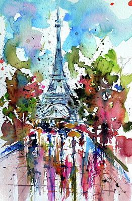 Paris Painting - Autumn In Paris by Kovacs Anna Brigitta