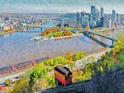 Digital Art - Autumn In Pittsburgh by Digital Photographic Arts
