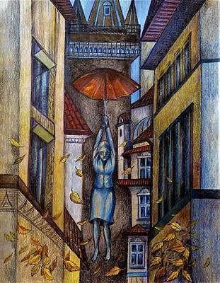 Drawing - Autumn In Prague. by Anna Duyunova