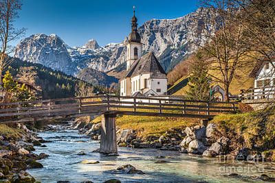 Nature Photograph - Autumn In Ramsau by JR Photography