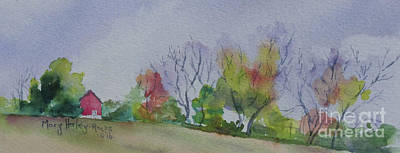 Painting - Autumn In Rural Ohio by Mary Haley-Rocks