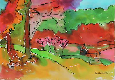 Painting - Autumn In Scarsdale by Carol Schindelheim