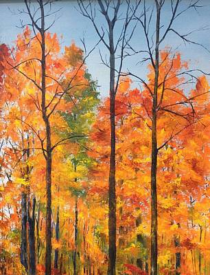 Painting - Autumn In South Wales Ny by Ellen Canfield