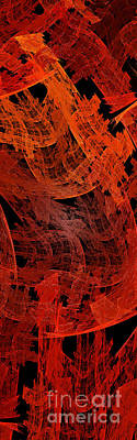 Digital Art - Autumn In Space Abstract Pano 2 by Andee Design