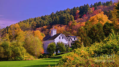 Photograph - Autumn In Stowe by Scenic Vermont Photography