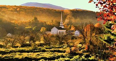 Painting - Autumn In Stowe Vermont by Dan Sproul