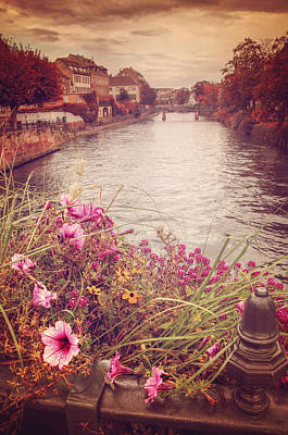 Sienna Photograph - Autumn In Strasbourg  by Carol Japp