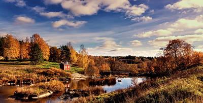 Photograph - Autumn In Sweden by Finmiki