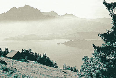 Photograph - Autumn In The Alps by Lali Kacharava