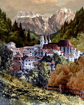 Painting - Autumn In The Alps by Ron Chambers