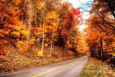 Painting - Autumn In The Blue Ridge Of Virginia Ap by Dan Carmichael