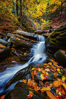 Waterfall Photograph - Autumn In The Catskills by Rick Berk