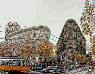 Digital Art - Autumn In The City by Ron Bissett
