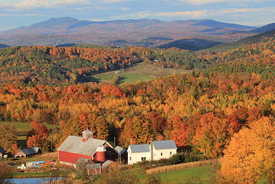 Photograph - Autumn In The Country Bogie Mountain Vermont by John Burk