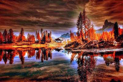 Photograph - Autumn In The Dolomites by Pixabay