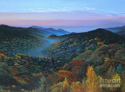 Painting - Autumn In The Great Smoky Mountains by Michael Nowak