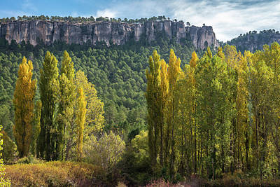 Autumn In The Hoz Del Beteta Gorge. In The Serrania De Cuenca, Spain. Art Print by Peter Eastland