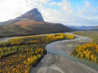 Art Print featuring the photograph Autumn In The Koyukuk River Valley by Adam Owen