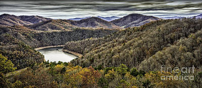 Photograph - Autumn In The Mountains At Fontana Lake by Walt Foegelle