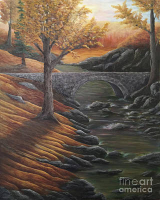 Painting - Autumn In The Ozarks by KJ Burk