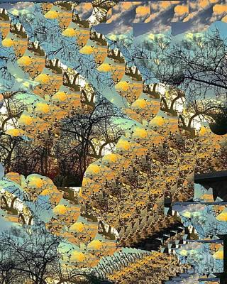 Digital Art - Autumn In The Park 2 by Nancy Kane Chapman
