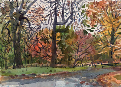 Autumn In The Park Original by Donald Maier