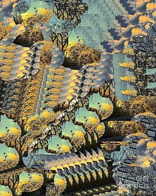 Digital Art - Autumn In The Park by Nancy Kane Chapman