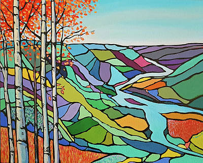 Wall Art - Painting - Autumn In The Peace by Alison Newth