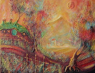 Autumn In The Shire Bag End Original by Joe  Gilronan