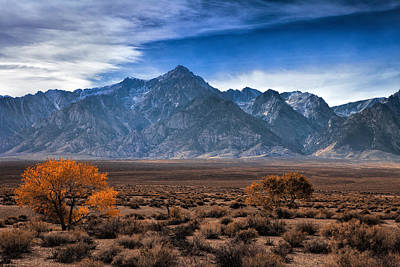 Lone Pine Photograph - Autumn In The Sierra Mountains by Andrew Soundarajan