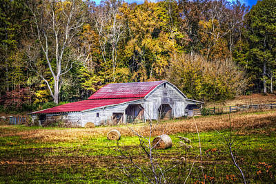 Autumn In The Smokies Art Print by Debra and Dave Vanderlaan