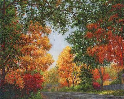 Painting - Autumn In The Suburbs by Susan Savad