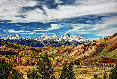 Autumn In The Tetons Art Print by Jean Hutchison