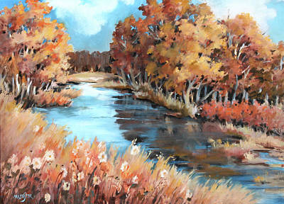 Painting - Autumn In The Valley 3 by Marta Styk