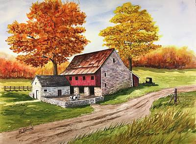 Autumn In The Valley Art Print